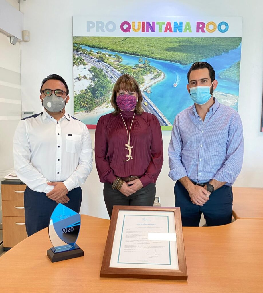 "Quintana Roo recibe el reconocimiento ""Wellness Champion"""