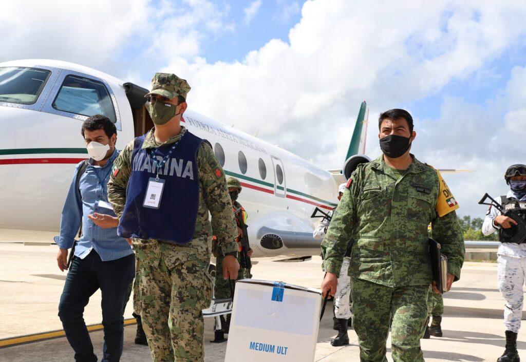 Llegó a Quintana Roo el tercer embarque de la vacuna Pfizer