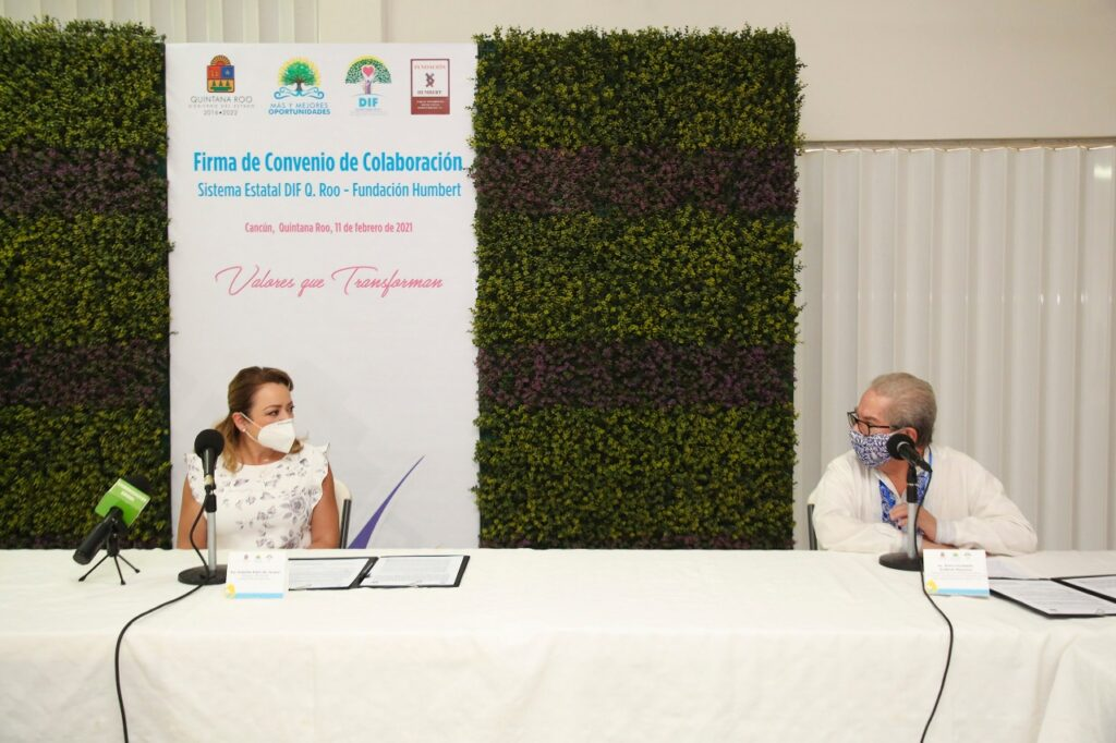 Convenio de colaboración del DIF Q.Roo con Fundación Humbert