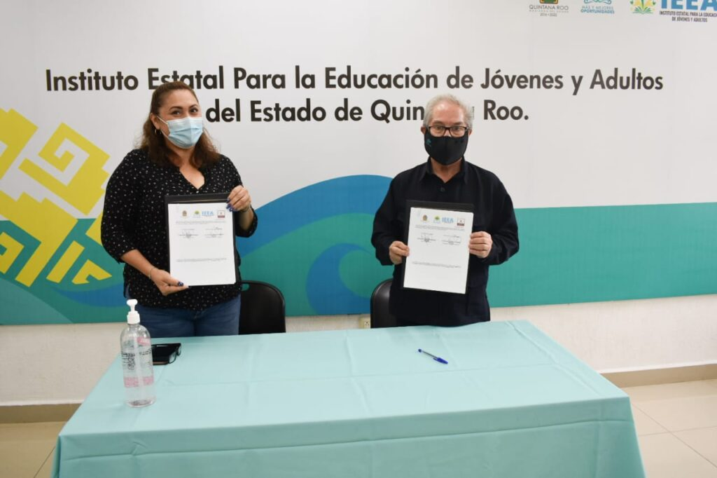 El IEEA Quintana Roo firma convenio con asociación Humbert