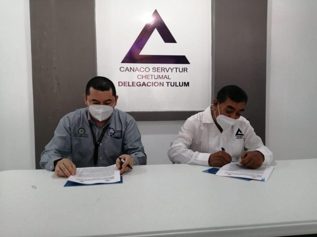 Firman convenio la CANACO Tulum y el TecNM campus Felipe Carrillo Puerto