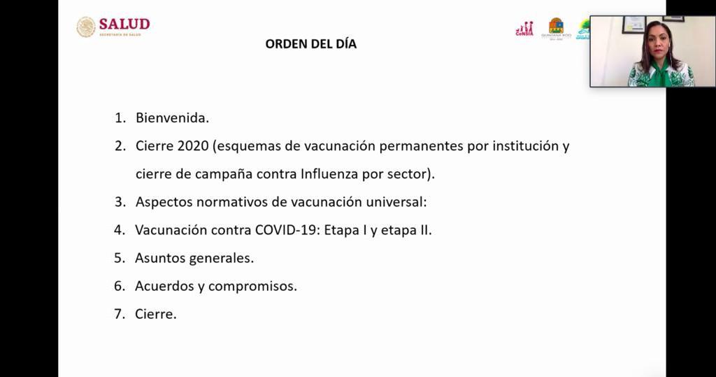 Se llevó a cabo la 1ª Reunión Ordinaria del Consejo Estatal de Vacunación 2021