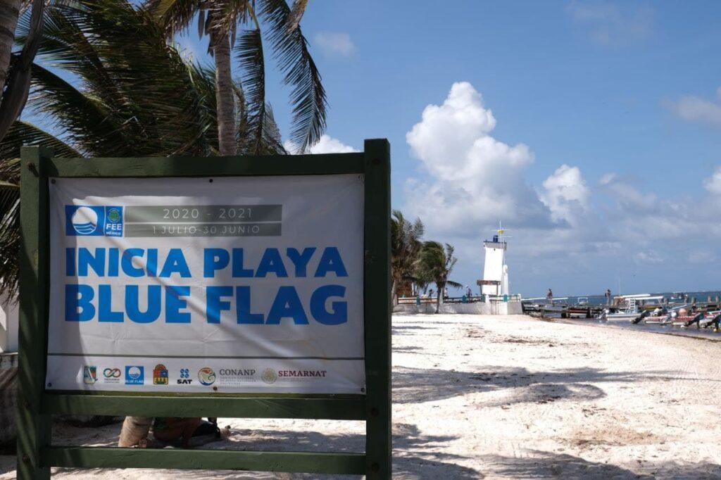 playa blue flag