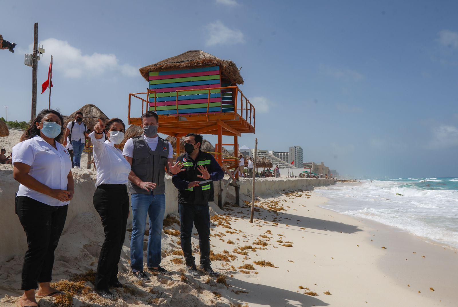 El Municipio de Cancún supervisó las afectaciones ocasionadas por las lluvias registradas en las últimas 24 horas en Playa Delfines