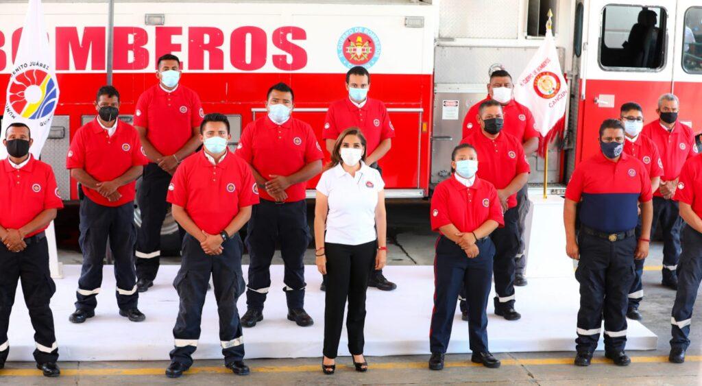 Cuerpo de Bomberos en Cancún es fortalecido por gobierno y sociedad civil